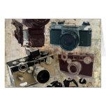 Moda retra de las cámaras del Grunge del vintage Tarjeton