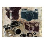 Moda retra de las cámaras del Grunge del vintage Postales