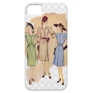 Moda retra de los años 40 funda para iPhone SE/5/5s