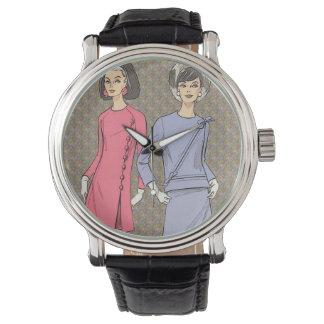 Moda retra de los años 60 reloj de mano
