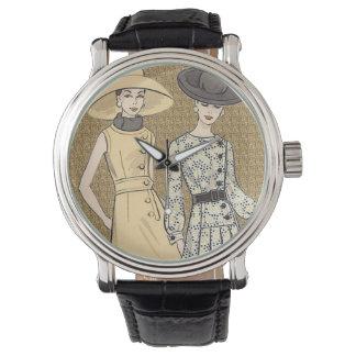 Moda retra de los años 60 relojes de mano