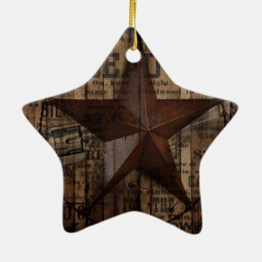 moda retra del país de la estrella de Tejas del Adorno De Cerámica En Forma De Estrella