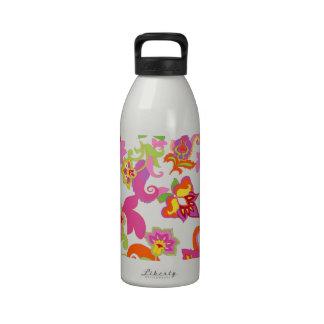 Moda retra maravillosa del hippy del arte abstract botella de agua reutilizable