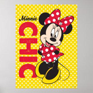 Moda roja de Minnie el | Póster
