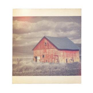 moda roja del país occidental del barnhouse de la  blocs de papel