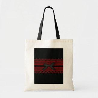 Moda roja negra gótica sofisticada del cordón bolsa