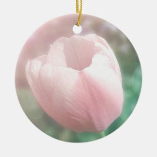 Moda rosada de la cabaña del ornamento de la foto ornamento para reyes magos