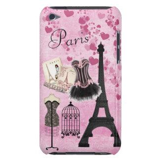 Moda rosada femenina elegante de París Carcasa Para iPod