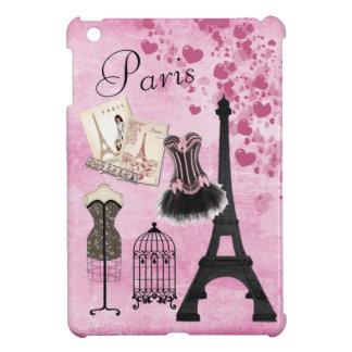 Moda rosada femenina elegante de París iPad Mini Coberturas