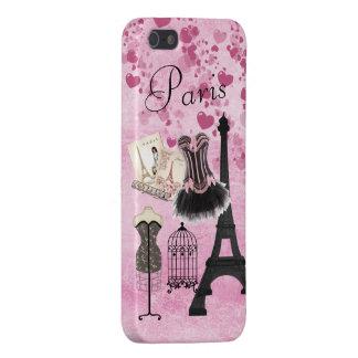 Moda rosada femenina elegante de París iPhone 5 Carcasa