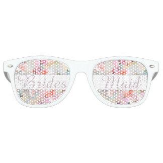 Moda rosada romántica de la acuarela de la dama de gafas de sol