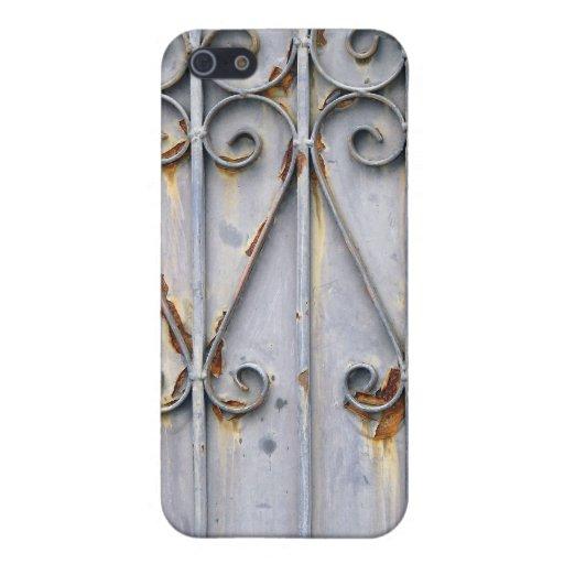 Moda rústica modelada steampunk del metal del vint iPhone 5 cárcasa