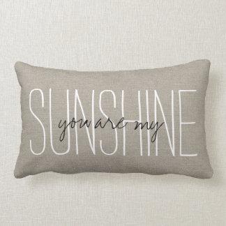Moda rústica usted es mi sol almohada