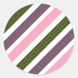 MODA STICKER_RADIANT ORCHID/GREEN/PINK/WHITE PEGATINA REDONDA