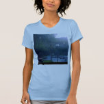 Moda T de la neblina azul Camisetas