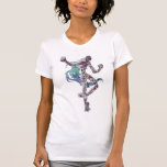 Moda T del diseñador manchada Camiseta