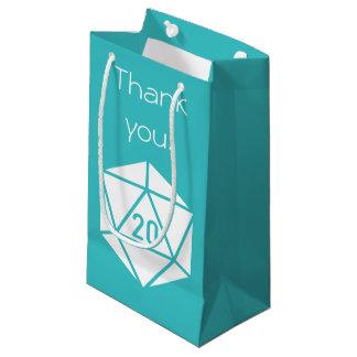 Moda tablero en bolso del regalo de la turquesa bolsa de regalo pequeña