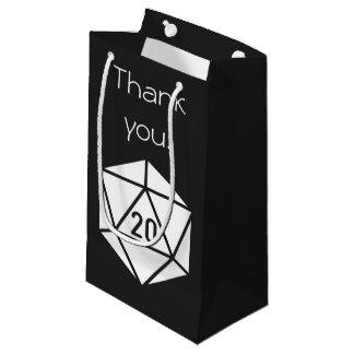 Moda tablero en bolso negro del regalo bolsa de regalo pequeña