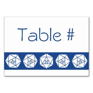 Moda tablero en tarjeta azul de la tabla