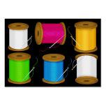 Moda - tarjeta/etiqueta de la costurera - SRF Tarjetas De Visita