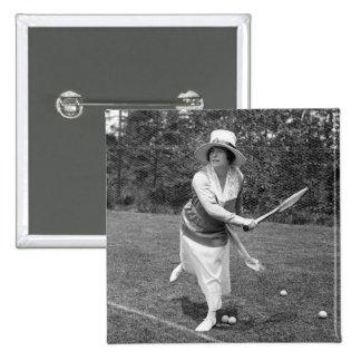 Moda temprana del tenis de los 1900s pin cuadrado