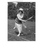 Moda temprana del tenis de los 1900s tarjetas