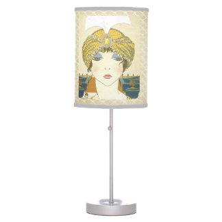 Moda Turbaned de los 1900s de Poiret Lámpara De Mesilla De Noche