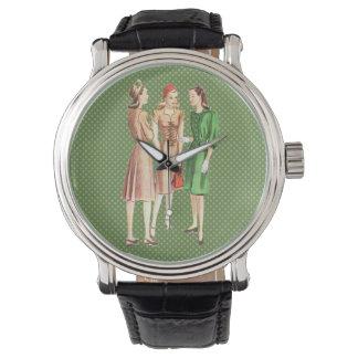 Moda V2 de los años 40 del vintage Relojes De Pulsera