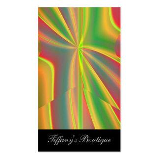 moda verde de neón femenina del arte abstracto de tarjetas de visita
