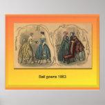 Moda, vestidos de bola 1863 poster