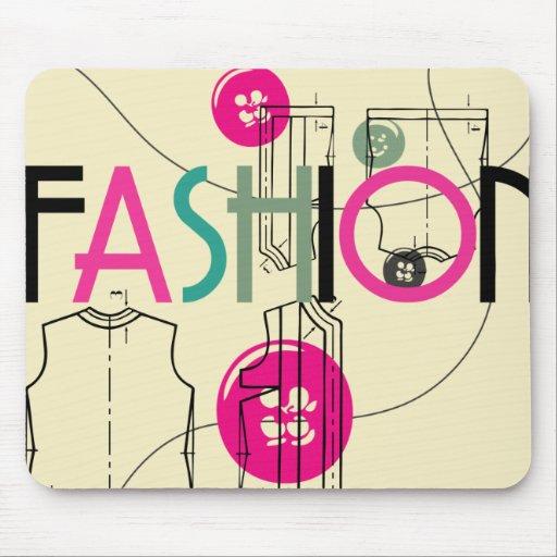 Moda y botón e hilo mouse pad