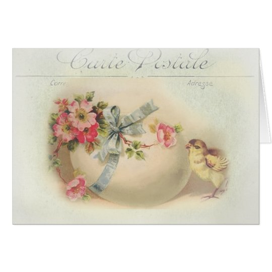 Moda y huevo de Pascua del Victorian Tarjeta De Felicitación