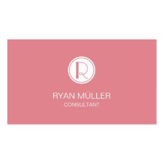 Moda y monograma profesionales del hielo de la tarjetas de visita