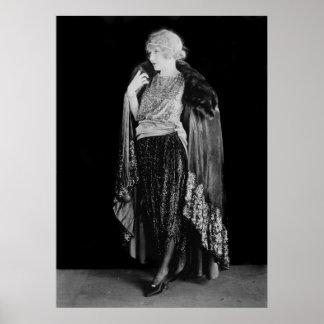 moda y peinado de la aleta de los años 20 posters