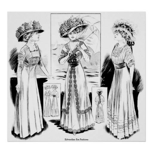 Modas de la era de Edwardian Poster