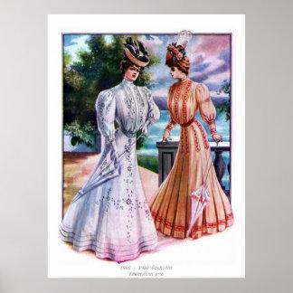 Modas de la era de Edwardian Posters