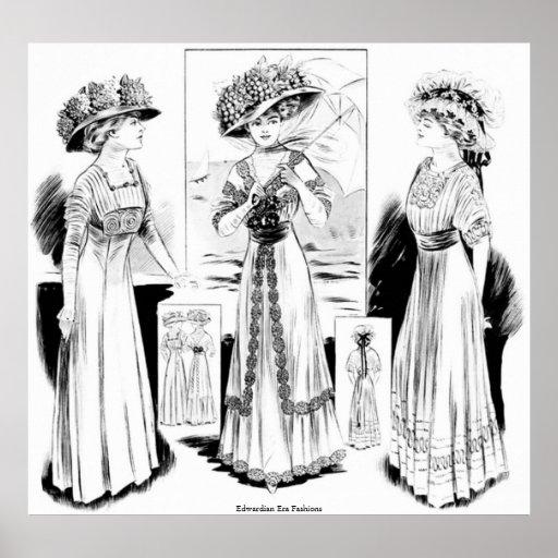Modas de la era de Edwardian Póster