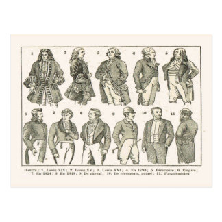 Modas, de Louis XIV hasta el siglo XIX Tarjeta Postal