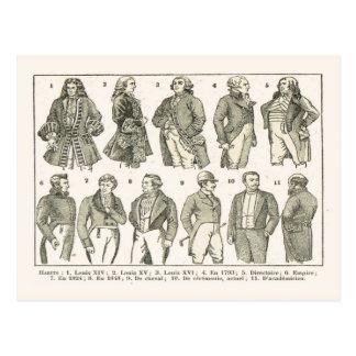 Modas, de Louis XIV hasta el siglo XIX Tarjetas Postales