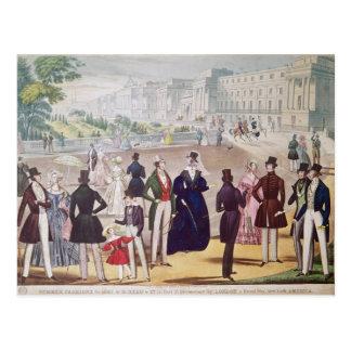 Modas del verano para 1840 postal