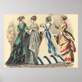 Modas elegantes del Victorian Poster