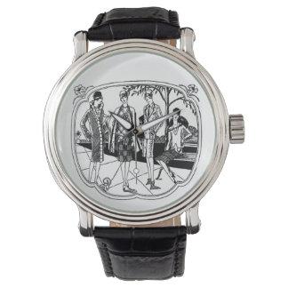 Modas retras de los años 20 reloj de mano
