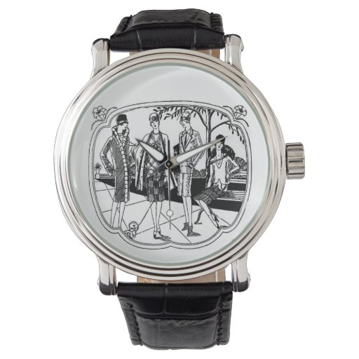 Modas retras de los años 20 relojes de pulsera