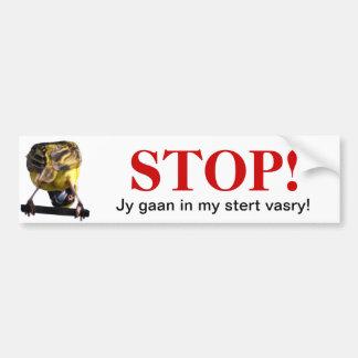 Modderskerm-Plakker Bumper Sticker