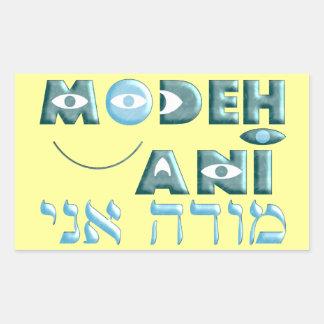 Modeh Ani Rectangular Sticker