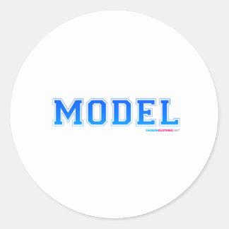 Model 2 round sticker