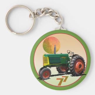 Model 77 Row Crop Basic Round Button Keychain
