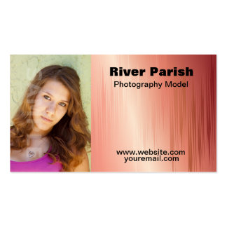 Model headshot business cards templates zazzle for Gift card business model