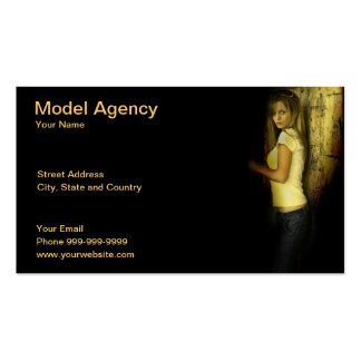 model agency Double-Sided standard business cards (Pack of 100)