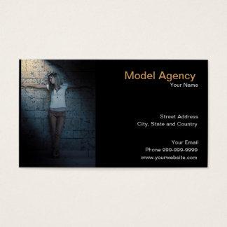 model agency business card